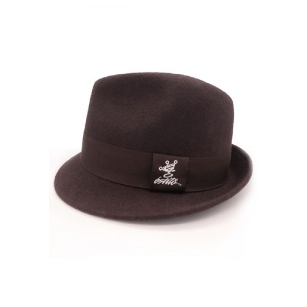 d9d5c98eb35 Estilo Clothing™ Chocolate Wool Fedora Hat