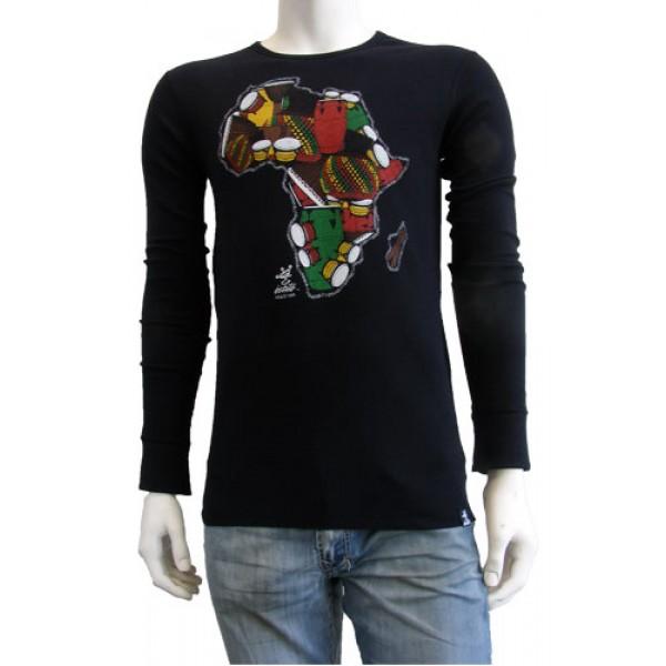 36d0482c8cc Estilo Clothing™ One Drum Africa Drum Long Sleeve Thermal For Men